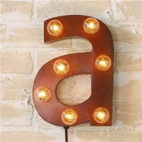 Vintage Style Sign Letters Sconce - Shades of Light