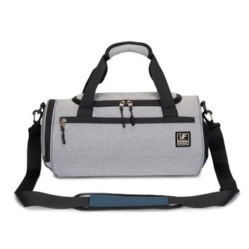 Sports gym bag Gym Bag  with Shoes Compartment Men Travel Sports Duffel Waterproof Fitness Training Bag Cylinder Sports Tote Handbag KO_5_1