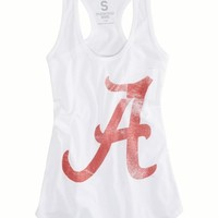 AEO Women's Alabama Vintage Tank (White)