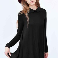 Cooperative Chiffon-Back Tunic Top- Black