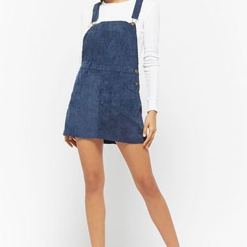Corduroy Mini Overall Dress