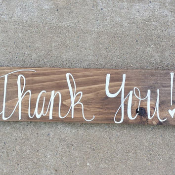 Rustic Thank You Sign, Rustic Wedding Decor, Rustic Wedding Photo Prop, Thank You Sign, Rustic Wedding Sign, Country Wedding Decor