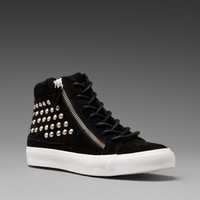 KELSI DAGGER Kilee Studded Sneaker in Black Suede at Revolve Clothing - Free Shipping!