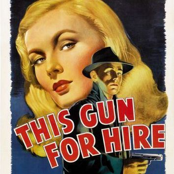This Gun For Hire movie poster Sign 8in x 12in