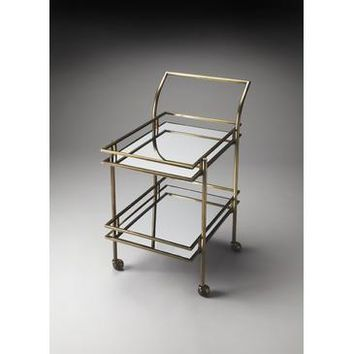Butler Butler Loft Gatsby Bar Cart In Antique Brass