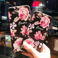 Vintage Rose Case for iPhone 7 7Plus & iPhone se 5s 6 6 Plus Best Protection Cover +Gift Box-137