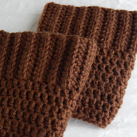 Brown Boot Cuffs Female Crochet Boot Cuffs Crochet Fashion Accessories