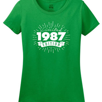 31st or 30th in 2017 Birthday Gift For Men and Women - Limited Edition 1987 T-shirt - Any Year You Want!  More colors available S-114