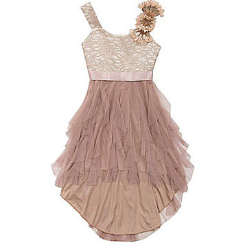 Tween Diva 7-16 Soutache-Bodice Cascading-Skirt Dress | Dillards.com