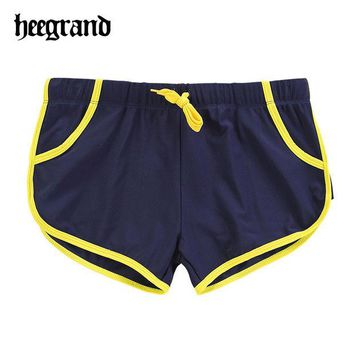 DCCKHN1 2016 Summer Style Fashion Low Waist Personality Swimming Wears Solid Men Shorts MYP050