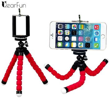 Mini Portable Flexible Sponge Octopus Tripod Stand Mount With Holder For Phone Gopro Camera Tripod Bracket for Camera DSLR