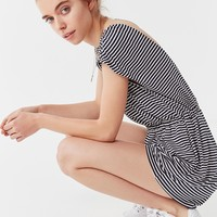 UO Striped Open-Back Romper | Urban Outfitters