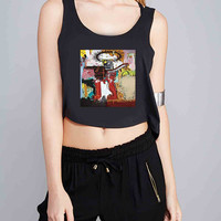 Jean Michel Basquiat Art for Crop Tank Girls S, M, L, XL, XXL *07*