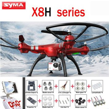 SYMA X8HG 2.4G 4CH 6 Axis RC Drone With 8MP 1080P Wide Angle HD WiFi Camera Quadcopter Fixed High mode 2MP X8HC X8HW Helicopters