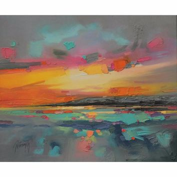 """Hand Painted painting """"Impression Sunrise"""" by Monet Wall Art Canvas Painting By Numbers Picture For Living Room 40*50cm NoFramed"""
