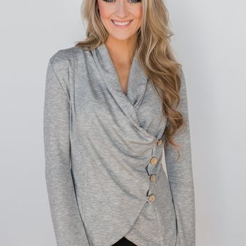 The Perfect Occasion Jacket- Heather Grey