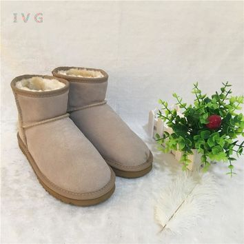 2017 Women's winter boots Australia Classic mini Style Snow Boots Warm Leather High-quality Ankle ugs Boots Brand IVG size 4-13