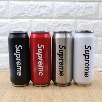 """Supreme"" Street Tide Card Creative Simple Fashion Cans Insulation Cup Cold Cup Couple Student Male Female Gift Cu"