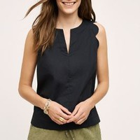 Maeve Scalloped Poplin Tank