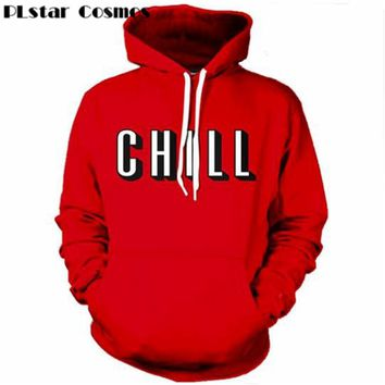 Fashion Netflix and chill 3D all over printed Hoodies pockets sweatshirt Hipster Street wear Top Harajuku men women new arrival