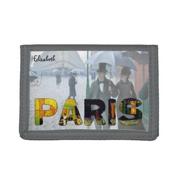 Paris by Van Gogh and Caillebotte Wallet