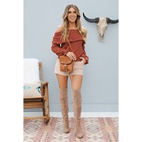 Sweetly Southern Sweater (Rust)