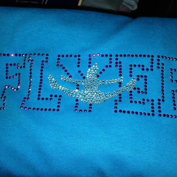 Cheer Flyer personalized rhinestone shirt multiple colors available