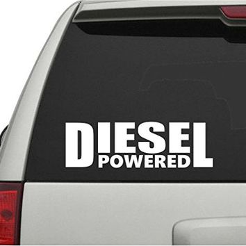 Dabbledown Decals Diesel Powered Car Truck Window Windshield Lettering Decal Sticker Decals Stickers JDM Drift Dub Vw Lowered Jdm Fresh Detailed Stance Fitment 4x4