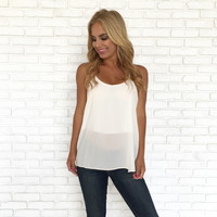 Three String Blouse In Ivory