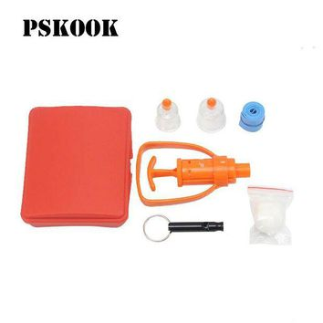 ONETOW PSKOOK Poison Venom Extractor Outdoor Emergency Kit Survival Whistle Travel Snake Spider Bite Rescue Tool First Aid Medical Pump