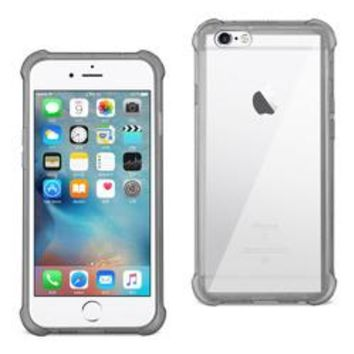 REIKO IPHONE 6 PLUS/ 6S PLUS/ 7 PLUS CLEAR BUMPER CASE WITH AIR CUSHION PROTECTION IN CLEAR BLACK
