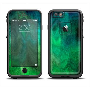 The Vivid Green Sagging Painted Surface Apple iPhone 6/6s Plus LifeProof Fre Case Skin Set