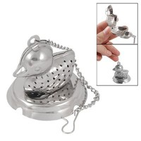 Duck Shaped Tea Infuser Strainer Mesh Ball Silver Tone