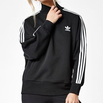 adidas 3-Stripes Turtleneck Sweatshirt at PacSun.com