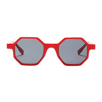 The Tiny Octagon Sunglasses Red