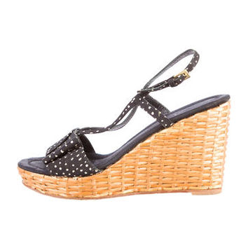 Kate Spade Woven Wedge Sandals
