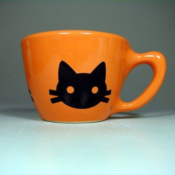 12oz cup kitty cabeza creamsicle Made to Order / by CircaCeramics