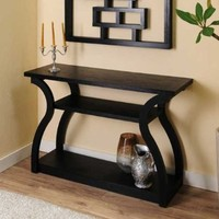 Ashford Black Finish Console Table
