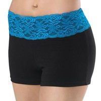Bright Neon Lace Waistband Dance Shorts; Balera