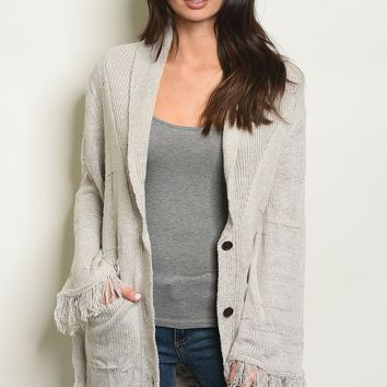 Womens Chunky Knit Sweater Cardigan