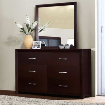 Walmart: Bancroft 6 Drawer Dresser with Mirror - Espresso