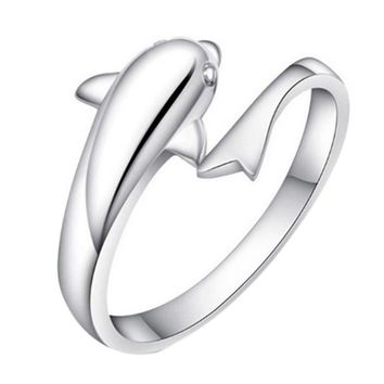 Dolphin Lovers Silver Ring