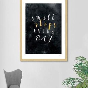 Every Day Positive Motivational Quotes Framed Wall Art Print