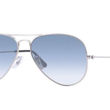 Ray Ban Aviator Light Blue Gradient Men's Sunglasses RB3025 003/3F 62