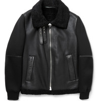 Givenchy - Shearling, Leather and Neoprene Jacket | MR PORTER