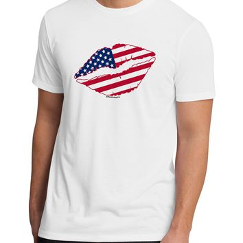 American Flag Lipstick Men's Sublimate Tee