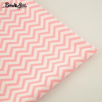 100% Cotton Fabric Home Textile Pink Waves Designs Patchwork Quilting Sewing Cloth Craft Bedding Decoration Dolls Dress Tissue