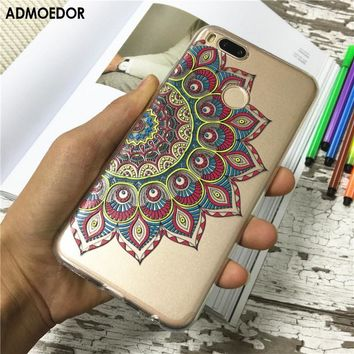 xiaomi mi a1 Case,Silicon mandala totem Painting Soft TPU Back Cover for xiaomi mi 5x Phone fitted Case shell