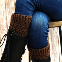 Brown Boot Cuffs - Chocolate Brown Boot Socks - Winter Accessory - Boot Accessory - Short boot cuffs - Fashion Accessory - Boot Toppers