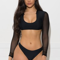 Beach Getaway Two Piece Swimsuit - Black